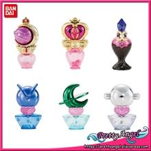 PrettyAngel véritable Original Bandai 25th anniversaire marin lune prisme flacon de parfum Vol.2 Gashapon ensemble (6 pièces) Mini figurines
