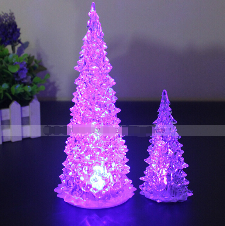 led flashing acrylic luminous christmas tree light small lamp rgb colorful change crystal christmas gift and toy in christmas from home garden on