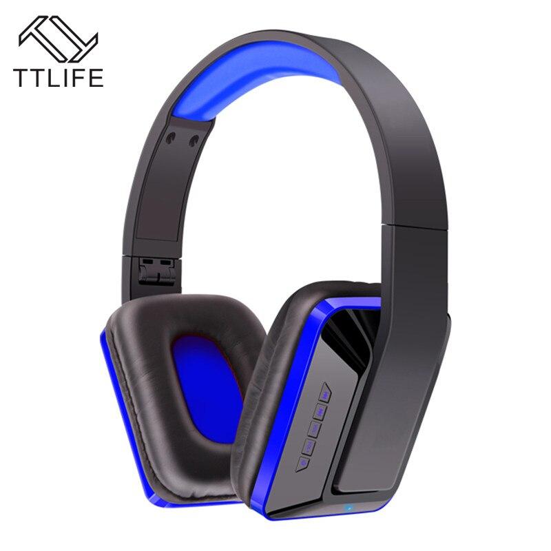 TTLIFE Brand Wireless Bluetooth Headphones Portable Earphone for phones Samsung Xiaomi Stereo Headset SD Card+FM Radio MX111 ttlife bluetooth earphone