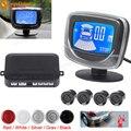 Auto del coche 4 Sensores de Aparcamiento Por Ultrasonidos Impermeable LCD Dual CPU Kit de Sensor de Alarma de Reserva Reversa de Visión Trasera de Ayuda Al Aparcamiento