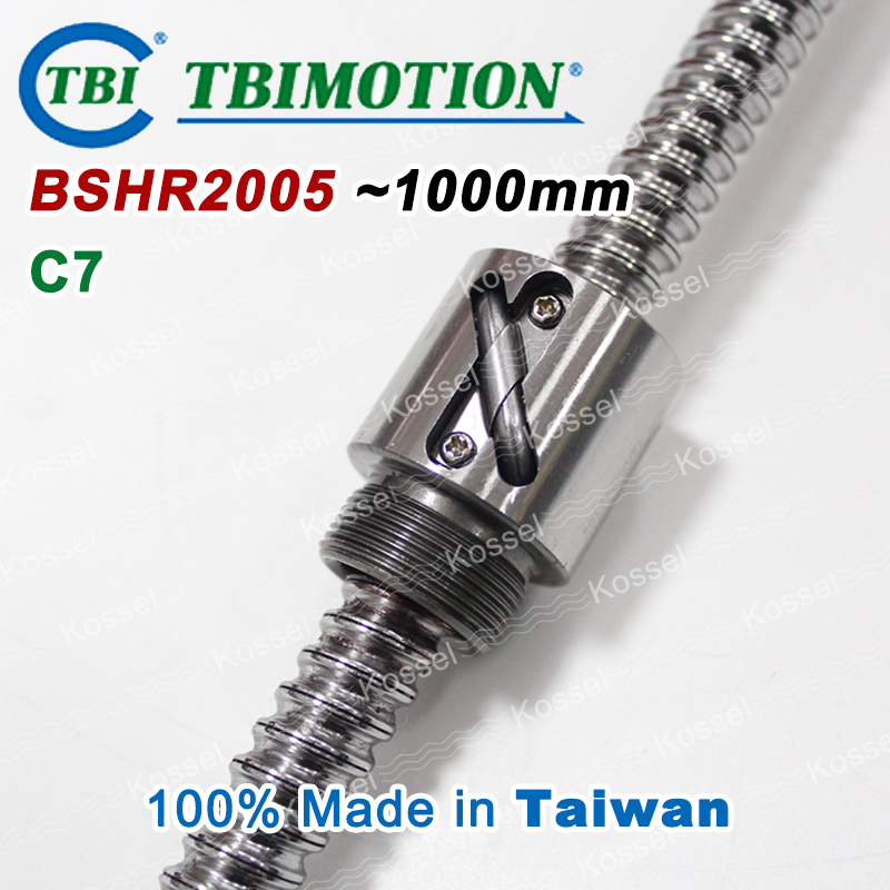 TBI Ball screw 2005 C7 1000mm with 5mm Lead Without Flange Ballnut BSH2005 for CNC kit backlash горелка tbi 240 5 м esg