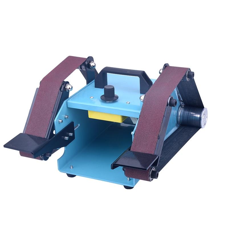 220V Desktop double head electric abrasive finishing machine Belt Sander Polishing sharpening tool 950W Y