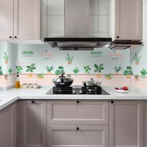 60*200 см кухонные маслостойкие настенные наклейки плита высокая температура Водонепроницаемая плитка шкаф Диапазон вытяжки отремонтированные обои