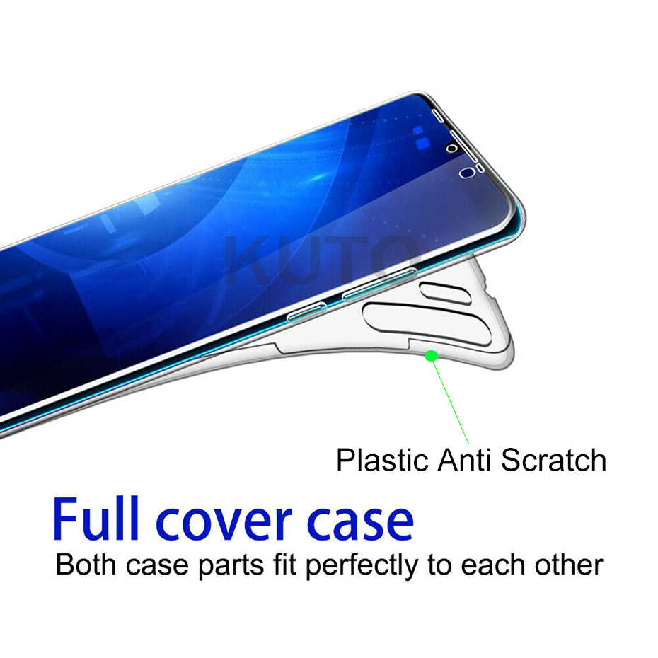Luxury 360 Full Cover Silicone PC Phone Case For Huawei P20 Lite Transparent Case For Huawei Mate 20 Lite P30 Pro P Smart Case