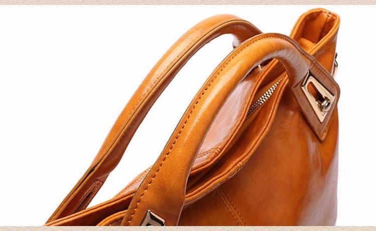 Women Oil Wax Leather Designer Handbags High Quality Shoulder Bags Ladies Handbags Fashion brand PU leather women bags WLHB1398 18