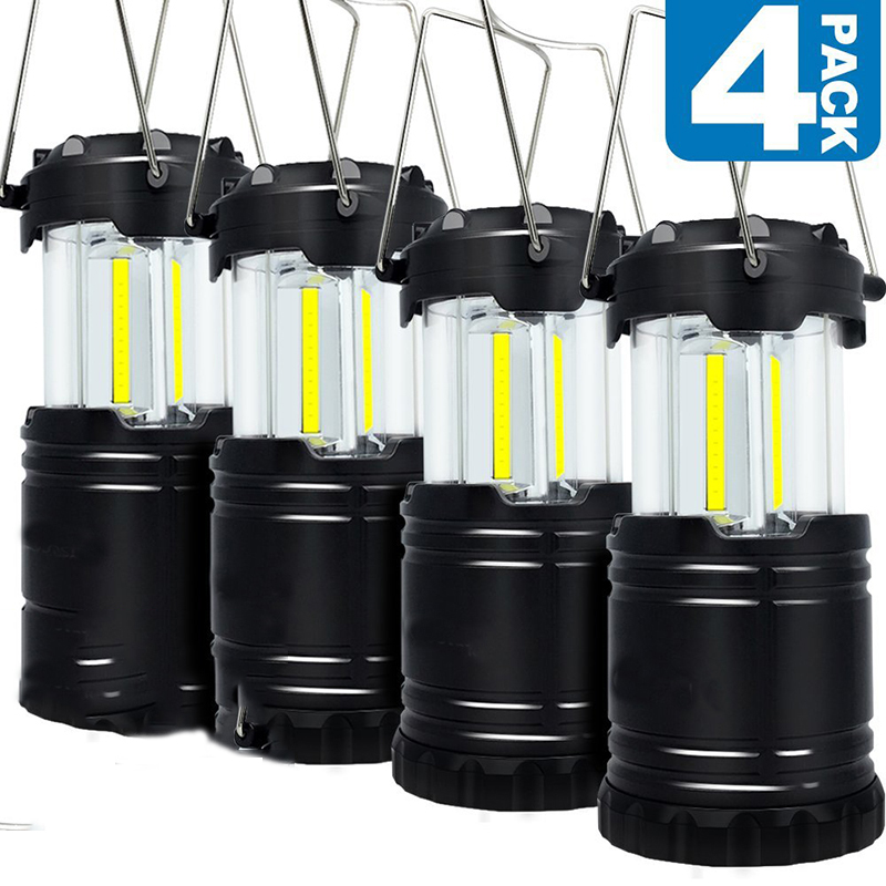 LED Camping Lantern, Ultra Bright Cob Light Collapsible Lamp, Portable Hanging Flashlight for Outdoor Garden Hiking Fishing