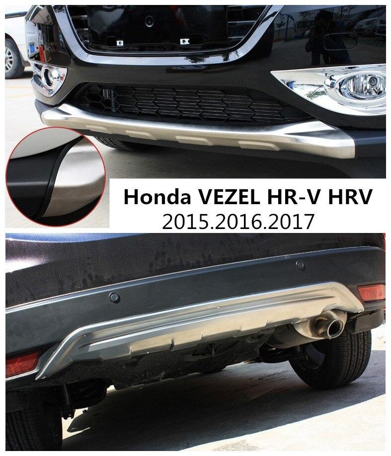 Pour Honda HR-V VEZEL VRC 2015.2016.2017 PARE-CHOCS GARDE PARE-CHOCS Plaque Haute Qualité En Acier Inoxydable Avant + Arrière Auto Accessoires