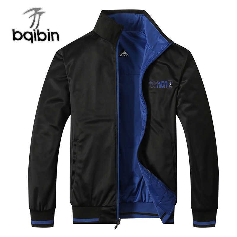2e117b42667 2019 Новое поступление зимние Для мужчин Куртки одноцветное Модные пальто  мужские повседневные приталенные Stand Collar Bomber