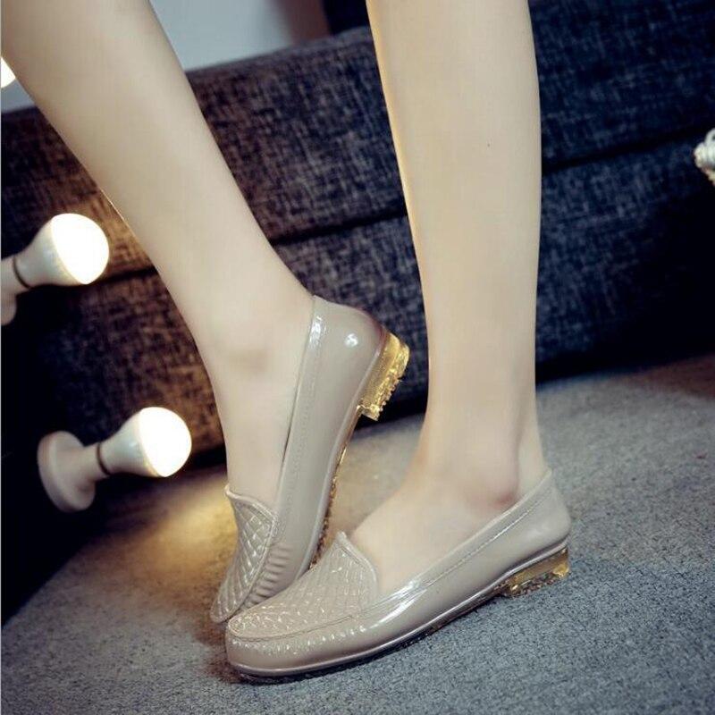 AShwin rainshoes qualité en caoutchouc chaussures appartements chaussures chaussures de protection du travail pour cuisine jardin pluie chaussures d'eau gelée couleur 36-40