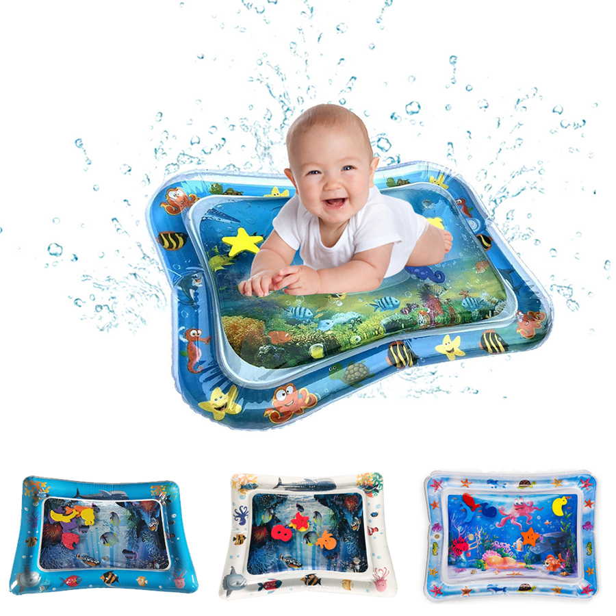 Baby Kids Water Play Mat Inflatable Infant Tummy Time Playmat ...