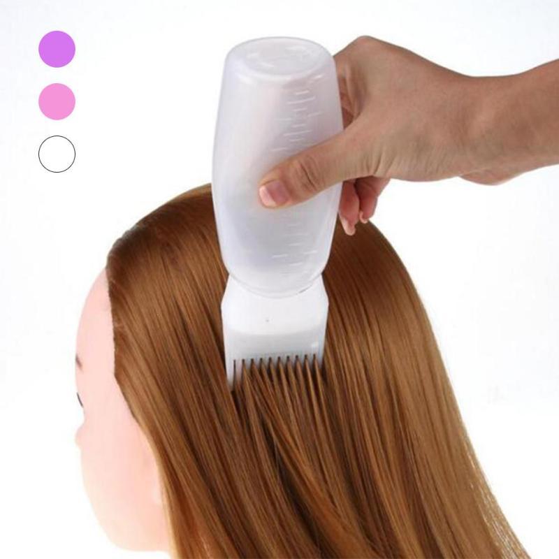 Shishe për larje flokësh 1PC Shishe të zbrazura Brush 120ML Vegla - Kujdesi dhe stilimi i flokëve
