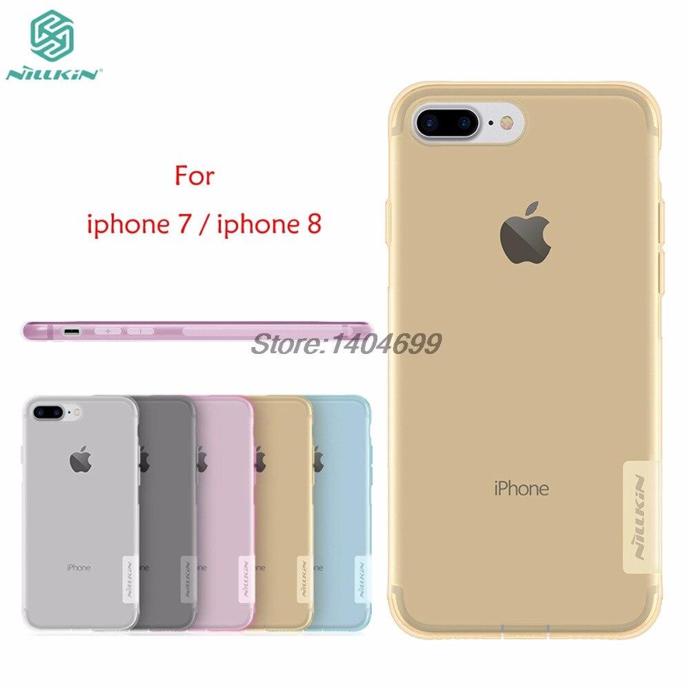 sPřípad pro Apple iPhone 8 Nillkin Nature Series Zadní kryt Jasný Průhledný Soft TPU Pouzdro pro iPhone 7