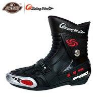 Ботинки для гонок на мотоцикле для верховой езды, спортивная защита для езды по бездорожью, обувь для мотокросса, обувь для бега, черный цвет