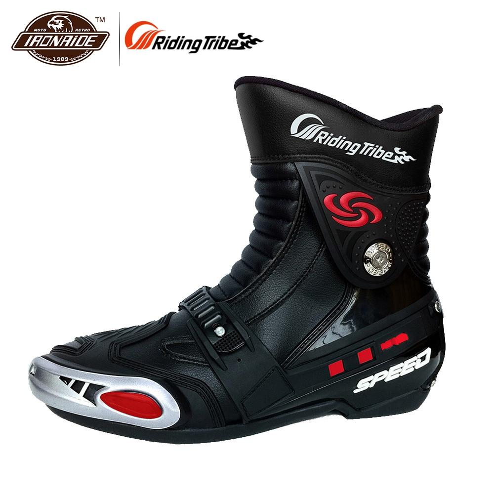 байк офф роад - Riding Tribe Motorcycle Racing Boots Dirt Bike Off-Road Riding Sports Protector Shoes Motorcycle Motocross Racing Boots Black