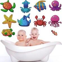10 шт./компл. стикер для ванной стены Стикеры плитка Стикеры s Мирового океана на каждый день с рисунком Стикеры s в Ванная комната для детей Детские на борт ванны