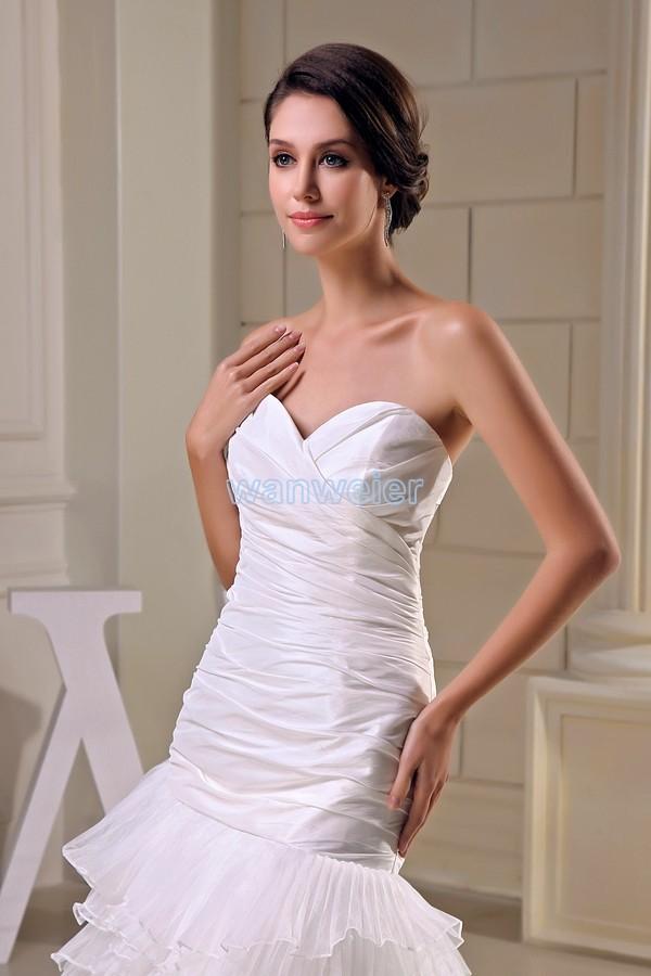 Livraison gratuite modeste 2016 nouveau design offre spéciale taille personnalisée court avant long dos grande taille robe plage longue robe de demoiselle d'honneur blanche - 4