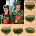 Estilo nostálgico partido comunista de China ejército rojo la octava ruta del ejército sombreros gorras Feng Lei estrella roja sombreros militares