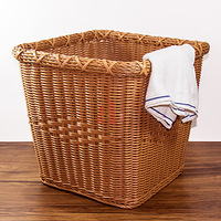 Eco Friendly PP Steel Support Cloth Laundry Weaving Bakset Hand Woven Durable Thicken Plastic Baskets Factory