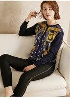PIXY золото печати шелк вязаный свитер Для женщин Италия свитера дизайнер кардиганы розовый милый взлетно посадочной полосы вязаный свитер р