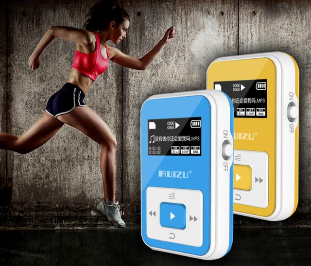 2017 Más Nuevo Original RUIZU X12 Bluetooth Deporte Reproductor de MP3 con Pantalla de 1.8 Pulgadas puede lossless reproductor de 100 Horas de alta calidad grabadora