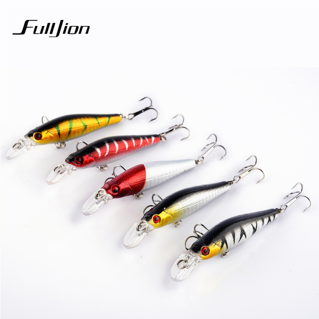 Fishing Lures Minnow Hard Wobblers Crankbait 3D Eyes Gold-plated Plastic Laser Reflective Baits Winter Fishing Decoy Tools