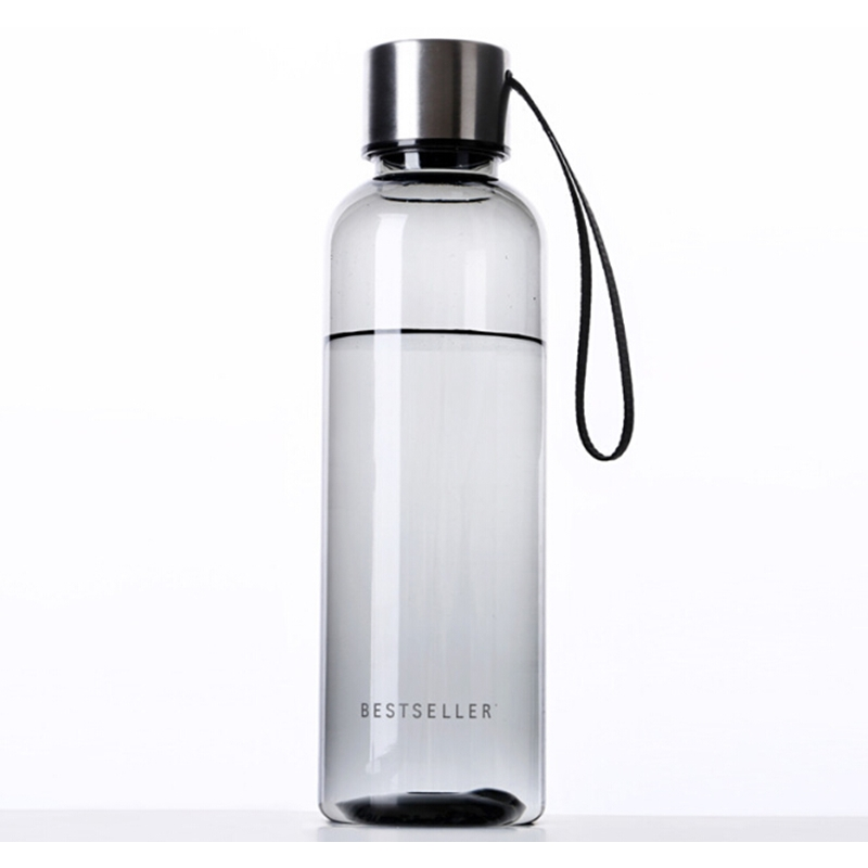 500ml Classical Portable Business Bottle High quality black Plastic Sport Creative water bottle bestseller travling