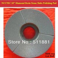 6th Step 10 Diamond Polishing Pads For Stone Slabs 250mm Resin Marble Granite Basalt Slab
