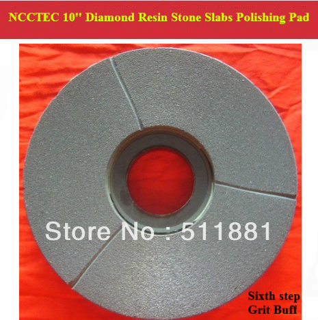 [6th step] 10'' Diamond Polishing Pads for Stone Slabs | 250mm resin marble granite Basalt slab polishing tools | Flat buff цена