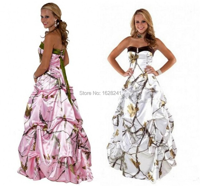 Camo Wedding Dresses 2015 Realtree With Snow Sweetheart With Beads