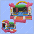 Hot Selling Mushroom Inflatable Bouncer for Kids, Candy Inflatable Castle 3m by 3m Commercial Bouncy Castle