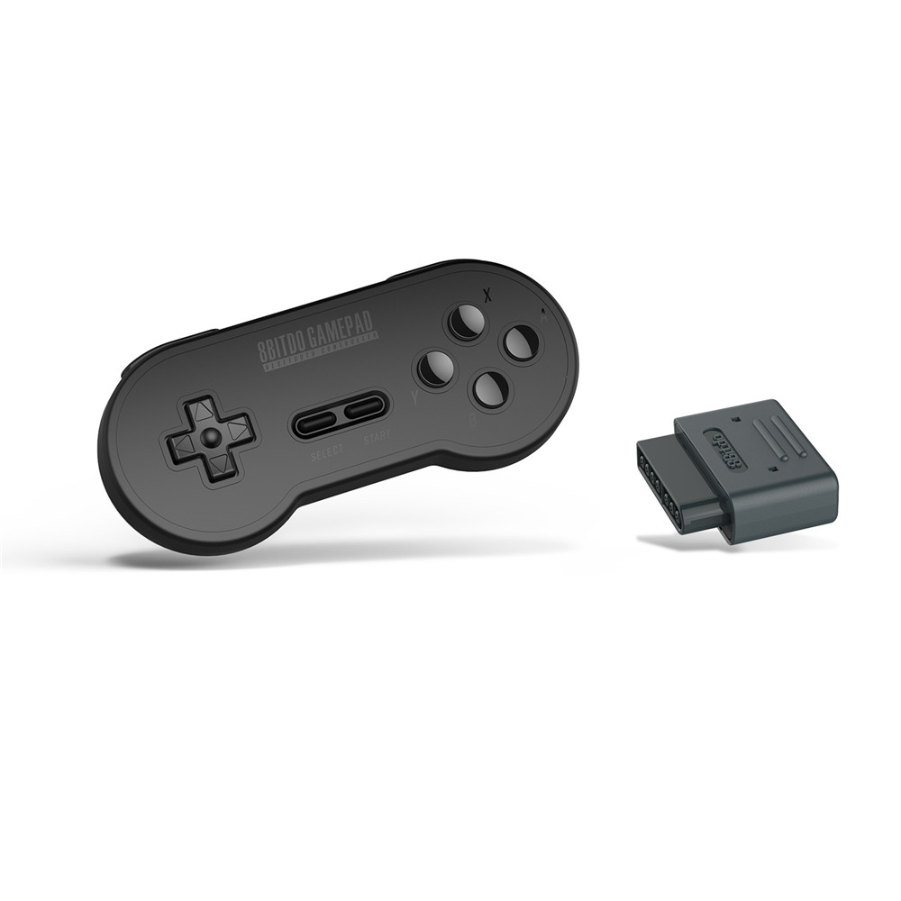 SN30 Wireless Bluetooth Controller Gamepad with 8Bitdo Retro Receiver Adapter for Nintendo SNES SF-C