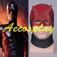 2017 New Anime Daredevil Mask for Sale Matt Murdock Cosplay Costume Helmet Brand New Red Latex For Adult Hot Sale