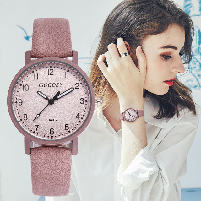 FUNIQUE 2019 Vintage Leather Strap Watches Women Luxury Ladies Watch Bracelet Qu