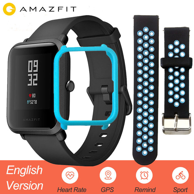 Xiaomi Amazfit Bip Smart Watch English Version Huami GPS Smartwatch Mi Pace Lite Youth Edition Heart Rate IP68 45 Days Battery