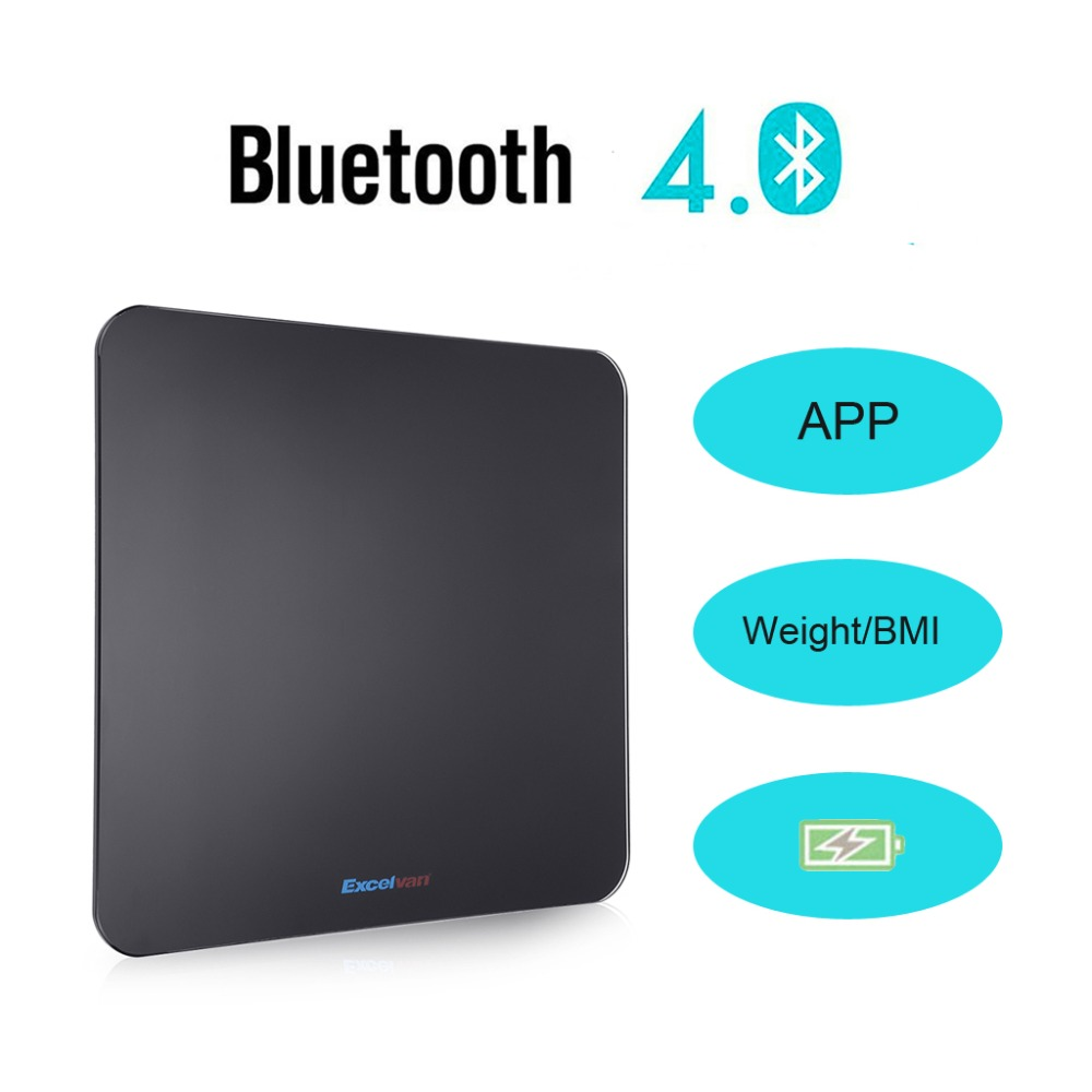 Bmi bathroom scales - Aliexpress Com Buy Excelvan Bluetooth Electronic Weight Scale 180kg 400lbs Free App For Ios And Android Devices Bmi Body Weight Digital Scale From