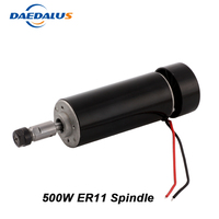 CNC Spindle 500W Air Cooled Spindle Motor ER11 Collet DC 0 100V Router 52mm For Drilling Milling Machine Tools