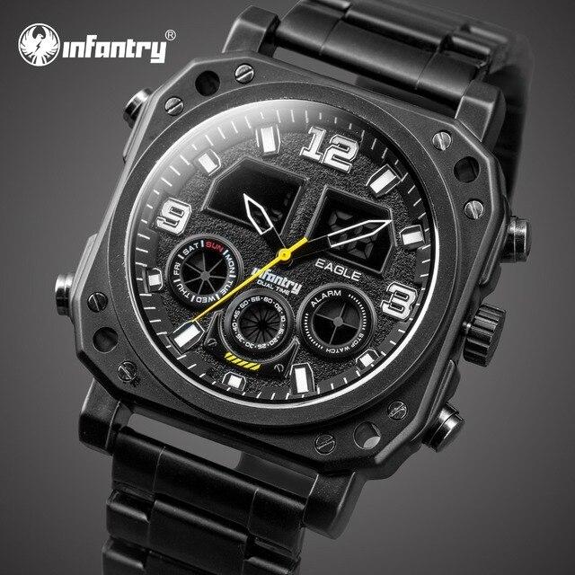 aa59418e623 INFANTARIA Mens Relógios Top Marca de Luxo Relógio Dos Homens Do Esporte Do Exército  Militar Analógico
