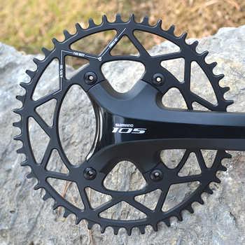 PASS QUEST Round Road Bike chain wheel crankshaft 110BCD 40T-52T Narrow Wide Chainring For R2000 R3000 4700 5800 6800 DA9000
