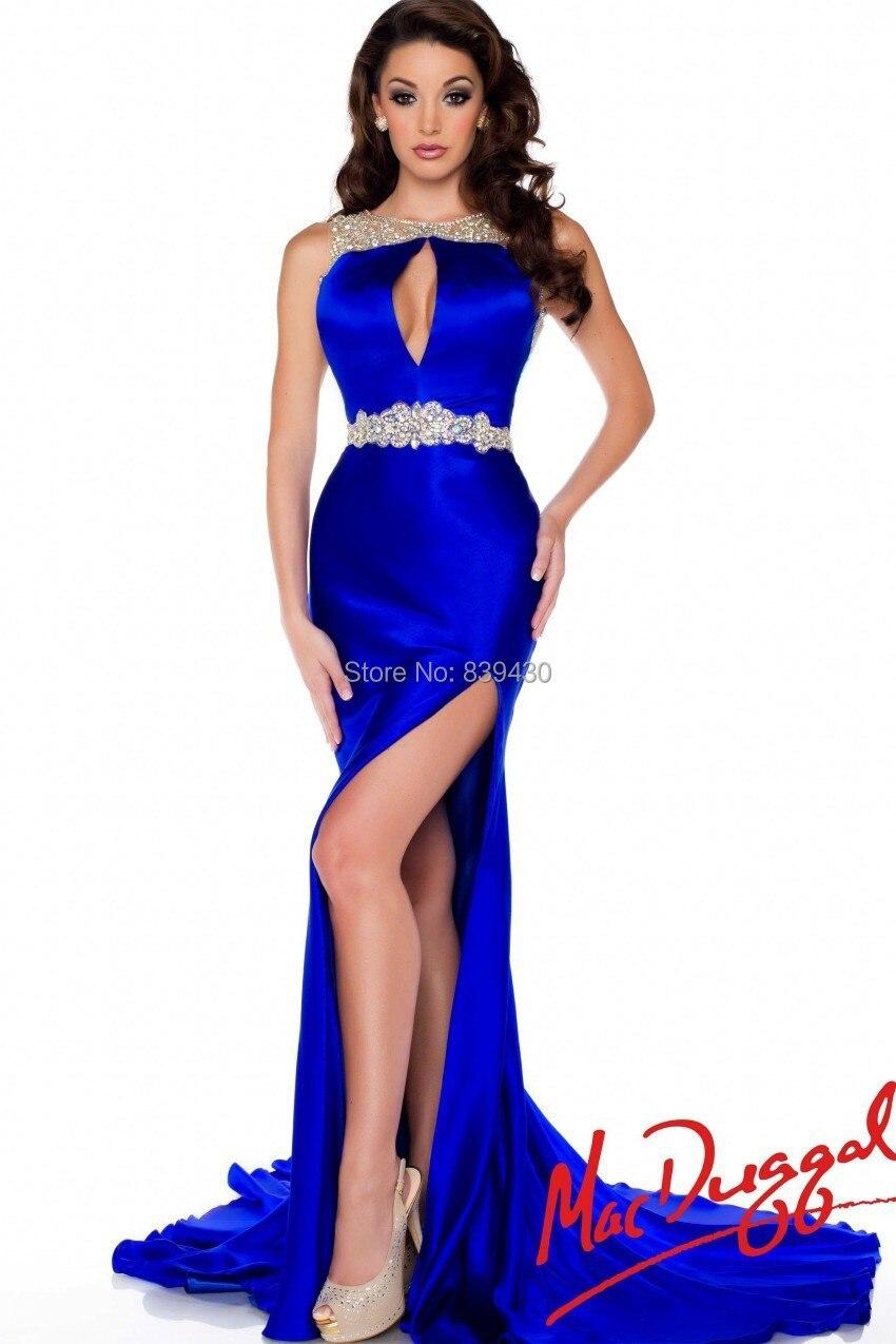 Aliexpress.com : Buy 2014 Sexy Royal Blue Prom Dresses Sheath ...