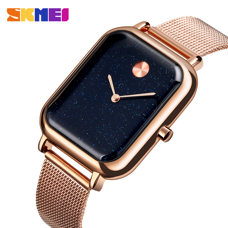 SKMEI Fashion Casual Watch Men Quartz Wristwatches 30M Waterproof Luxury Women Quartz Watches Relogio Masculino	 9187
