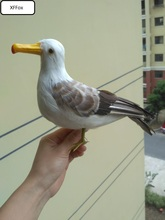 big new real life seagull model foam&feather standing bird gift about 30cm xf0016