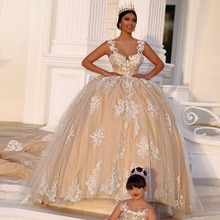 kejiadian Train Backless Ball Gown wedding dresses