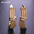 Blucome marquise cubic zirconia pedra brinco de cobre banhados a ouro mulheres presente do dia dos namorados brincos da orelha jóias orecchini
