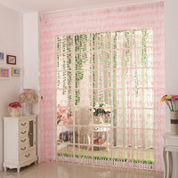 RUBIHOME Pink Yellow Butterfly Door Curtain Separate For Living Children Room Decoration Home Textile Without Tube