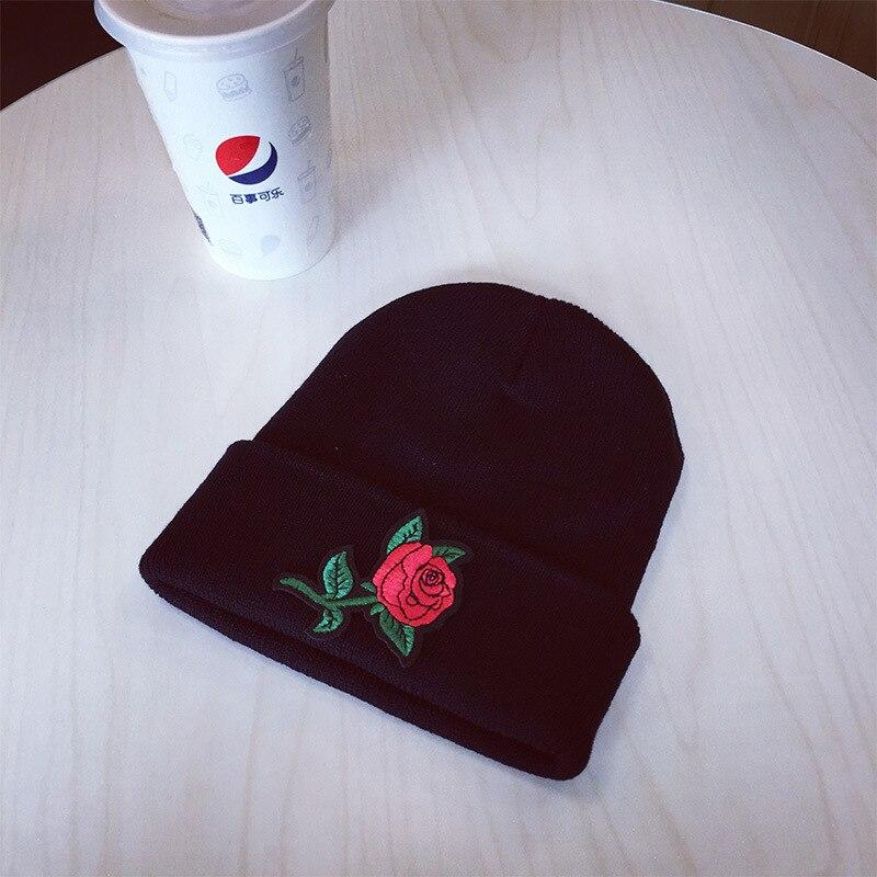 TOYOOSKY Winter Beanie Hut Damen Stricken Hüte Für Frauen Rose ...