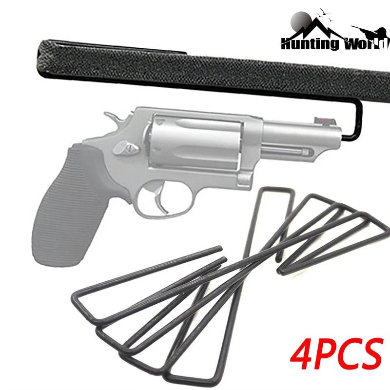 tactical 4pcs pistol hanger solution gun safe handgun hook rack holder organizer storage for shelves and safes hunting accessory
