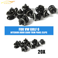 20pcs/lot Interior Door Card Trim Panel Clips Fastener Klips Fit for VW Golf 6