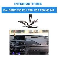 Отделки приборной панели полоски для BMW F30 F32 F36 320i 328d 328i 420i 428i 435i 440i 3 4 серии интерьер углеродного волокна приборной панели