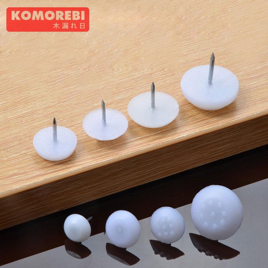 KOMOREBI 200/Pcs Furniture Round Shaped Rubber Non Slip Non Skid Feet Pad For Table Desk Chair And Sofa