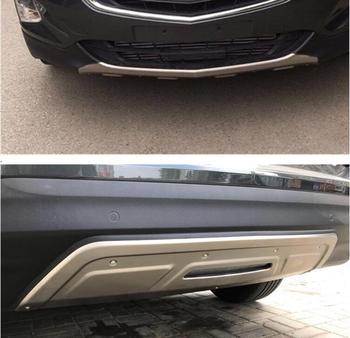 2 шт. спереди + задний бампер из нержавеющей стали диффузор протектор гвардии опорная плита для Chevrolet Equinox 2017 2018 2019 EMS
